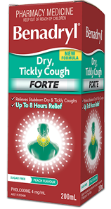 BENADRYL® Dry, Tickly Cough Forte Cough Liquid