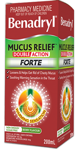 BENADRYL® Mucus Relief™ Double Action Forte Cough Liquid