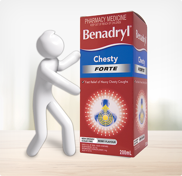BENADRYL® Chesty Forte Cough Liquid