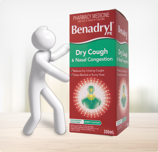 BENADRYL® Dry Cough & Nasal Congestion Cough Liquid
