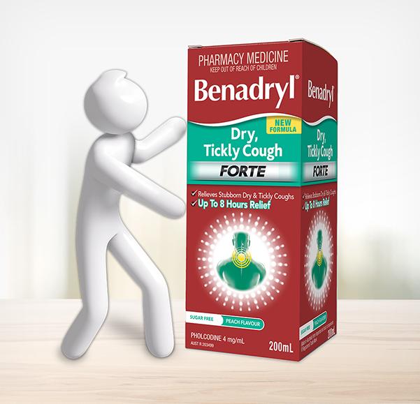 BENADRYL® Dry, Tickly Cough Forte Cough Liquid