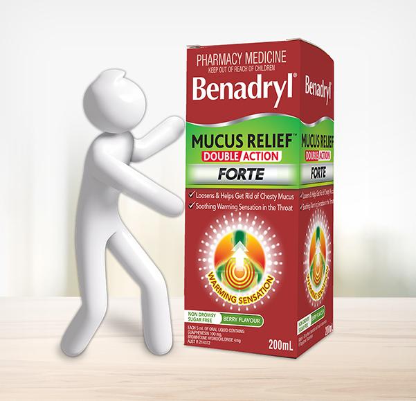 BENADRYL® Mucus Relief™ Double Action Forte Cough Liquid